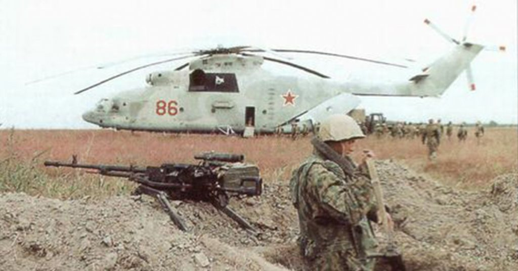 Mi-26 brały udział podczas walk w Afganistanie i Czeczenii