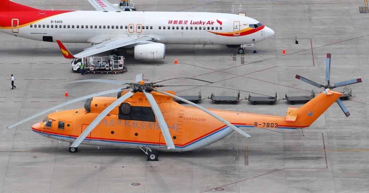 Rozmiary Mi-26 robią ogromne wrażenie