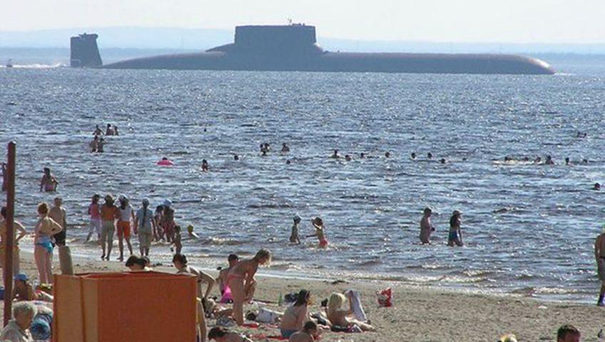 Tajfun - największy na świecie radziecki okręt podwodny z napędem atomowym.