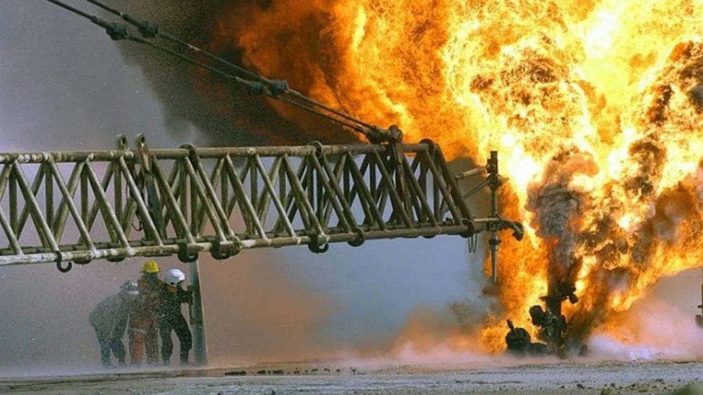 Pustynia w ogniu - zdjęcia płonących szybów naftowych Kuwejtu