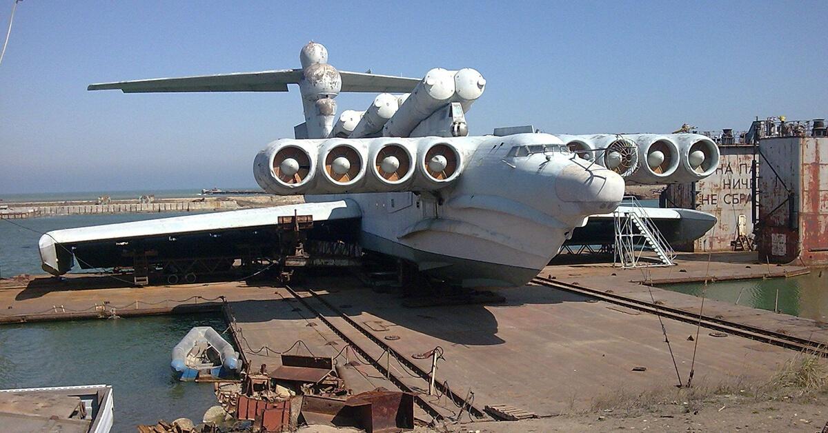 Ekranoplan Łuń – niezwykła konstrukcja z czasów ZSRR