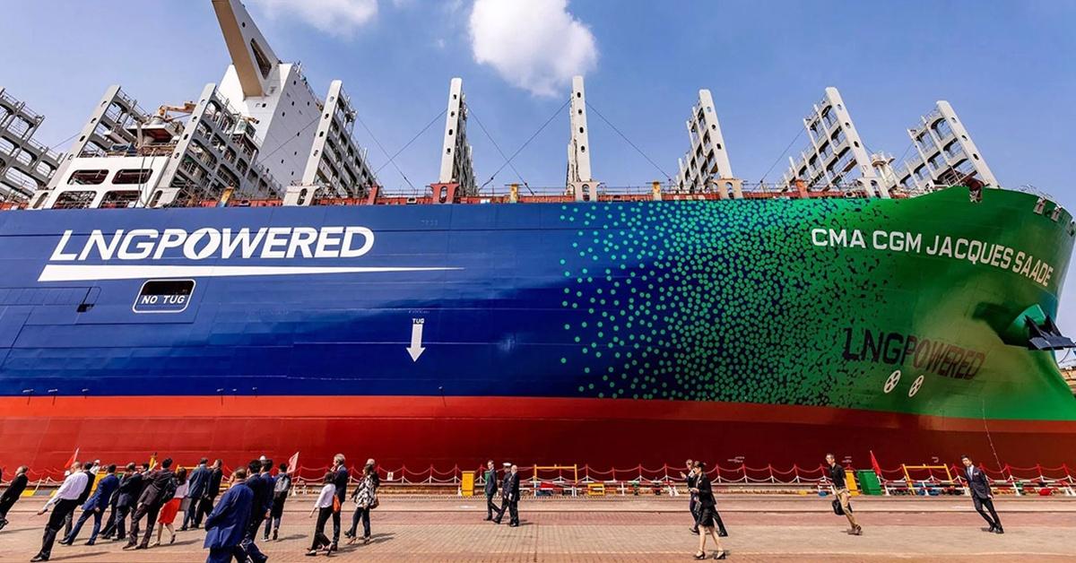 Jacques Saade - jeden z największych kontenerowców zasilany LNG