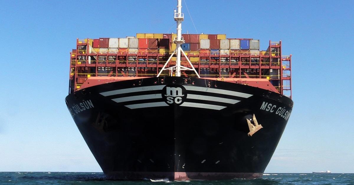 MSC Gülsün - obecnie największy kontenerowiec na świecie.
