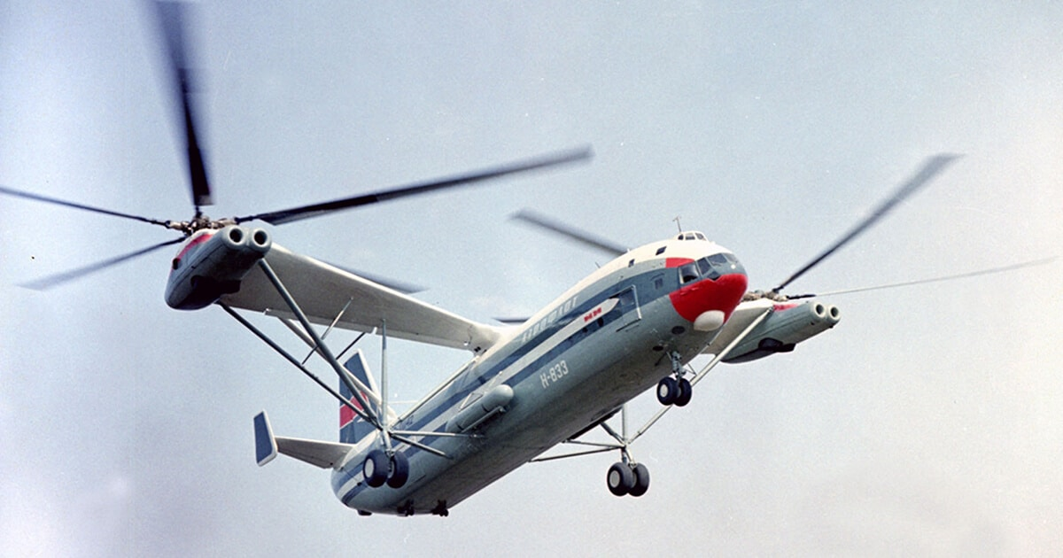 Mi-12 to największy na świecie prototypowy śmigłowiec.