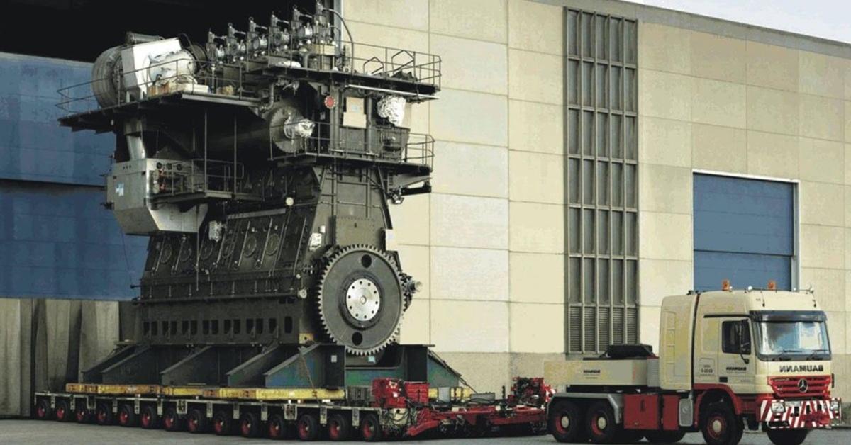 Poznaj największy silnik okrętowy świata - Wartsila-Sulzer RTA96C-14.