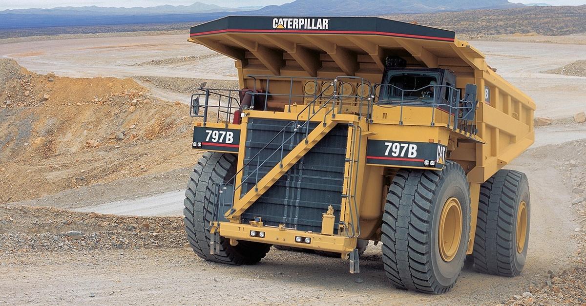 Caterpillar 797B ogromna maszyna o niebywałych możliwościach.